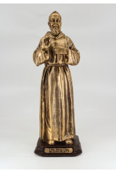 São Padre Pio - 20 cm - Dourado