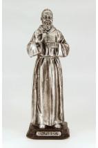 São Padre Pio - 20 cm - Prateado